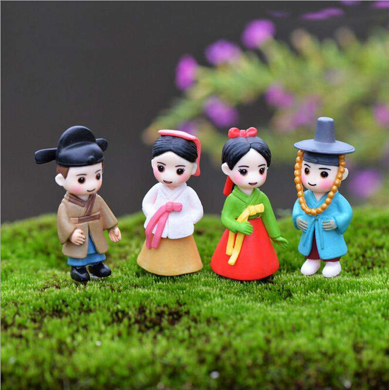 Korean Boy Girl Bonsai Miniature Figurines Wedding Doll Miniatures Couple home Garden Decoration Girl toy DIY accessories gift, , www.suppashoppa.co.uk
