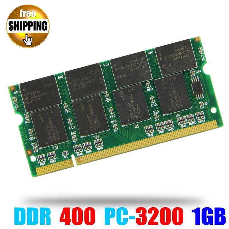 Laptop Memory Ram SO-DIMM PC3200 DDR 400 / 333 MHz 200PIN 1GB / DDR1 DDR400 PC 3200 400MHz 200 PIN For Notebook Sodimm Memoria