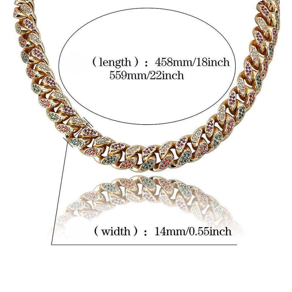 Luxury Hip Hop Full CZ Iced Out Choker Chain Micro Pave Zircon Bling Bling Fashion Chain Necklace Jewelry for Rappers