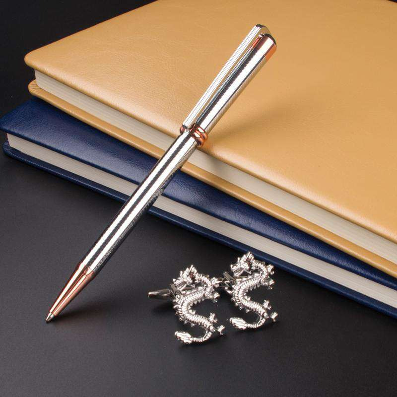 Luxury Stationery Executive Office Supplies 218 Silver raised Ballpoint Pen unique desigh Cufflinks gift pen, , www.suppashoppa.co.uk