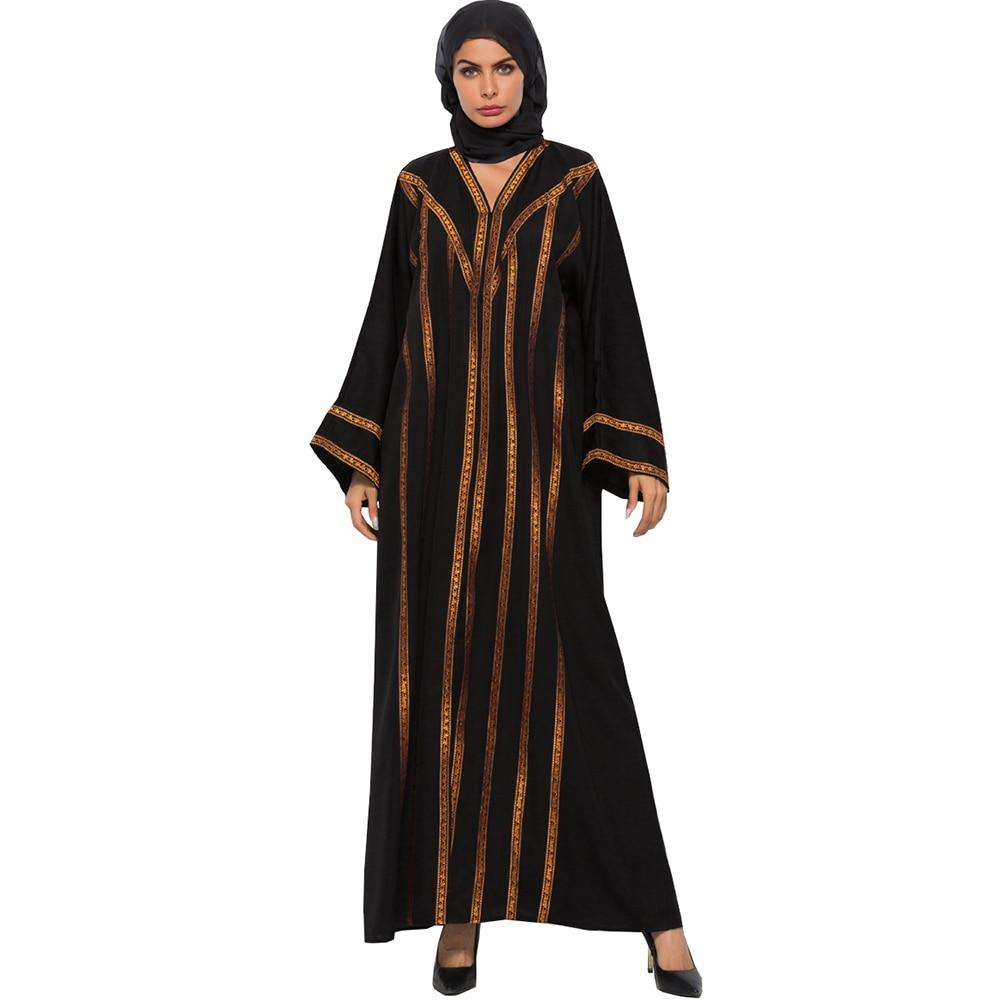 Muslim Abayas Dress Women Kaftan Casual Plus Size Robe  Ethnic Styles Floor-Length Traditional Costumes Fashion Jibabs Vestidos
