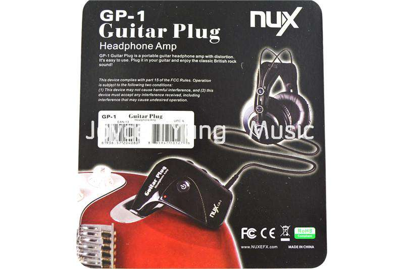 NUX GP-1 Portable Guitar Plug Headphone Amp with Classic Rock British Distortion Free Shipping