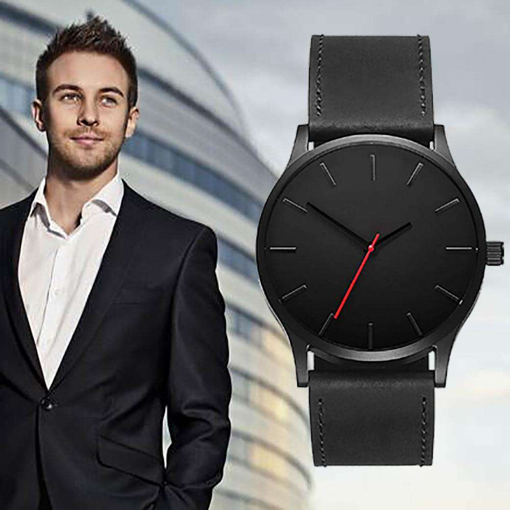 Saatleri Fashion 2018 Business Quartz Large Dial Watch For Men's Matte Belt Wrist Watch Wristwatch Clock Gift Dropshipping, , www.suppashoppa.co.uk