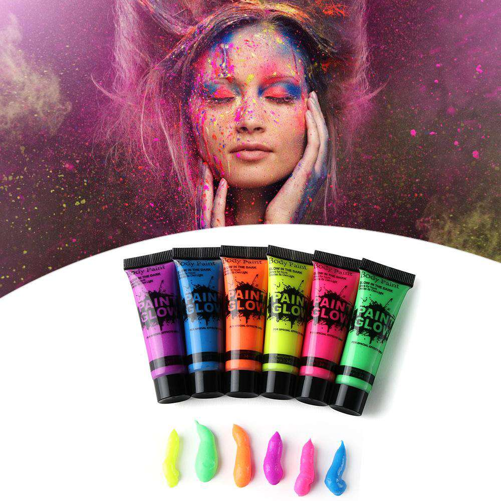 1Pcs Facial Painting Luminous Makeup Fluorescent Body Paint Pigments Face Body Tattoo Body Art Makeup Tools