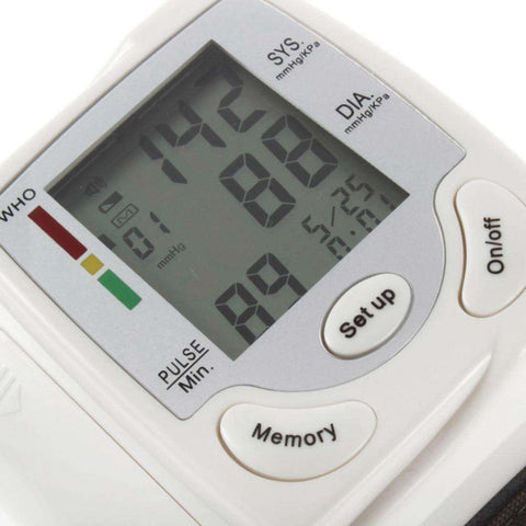 Digital LCD Display Wrist Blood Pressure Heart Beat Rate