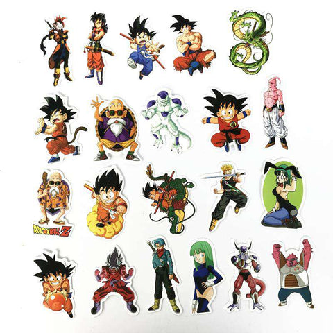 100 pcs/pack Mixed Dragon Ball Anime Sticker For Car Laptop Skateboard Pad Bicycle Motorcycle PS4 Phone Decal Pvc Stickers, , www.suppashoppa.co.uk