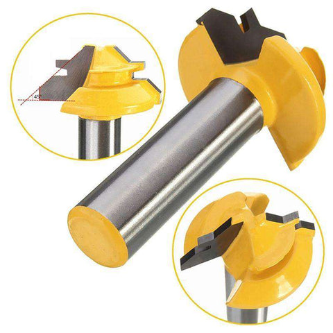 1pc Tenon Cutter 45 Degree Router Bit Milling Cutters 1/2'' Shank Lock Miter Wood Cutter For MDF Wood Plywood Woodworking Tools