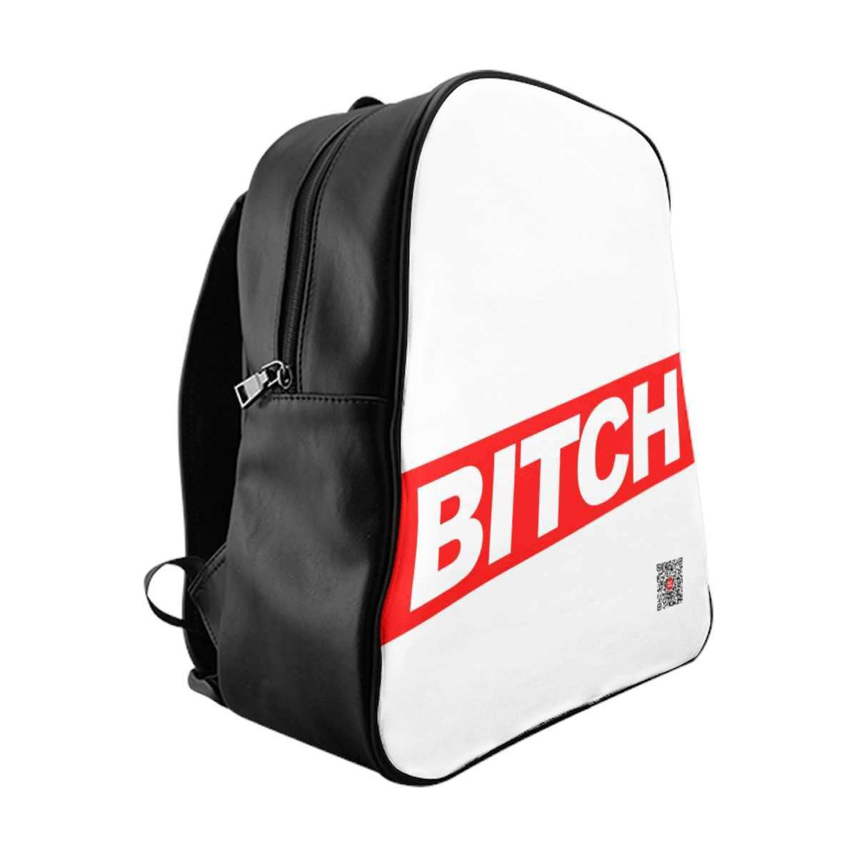 * BITCH B/W Unisex School Backpack