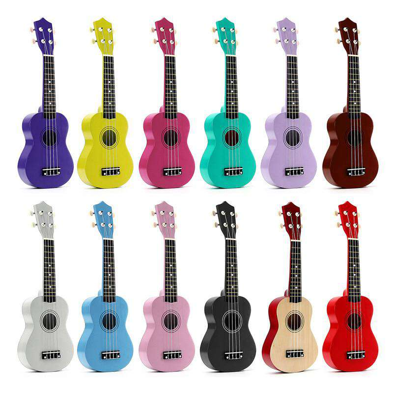 "21"" Soprano Ukulele Basswood Acoustic Nylon 4 Strings Ukulele Colorful Mini Guitar Musical Instrument For Children Gift, , www.suppashoppa.co.uk"