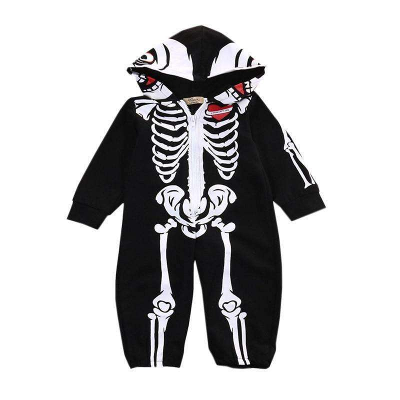 Halloween Skeleton Infant Soft Cotton Jumpsuit