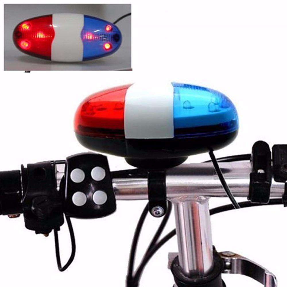 6 LED Bike Bell Police Taillight Rear Warning Siren Electric Horn Multifunction Cycling Front Light Warning Light Bicycle Bell, , www.suppashoppa.co.uk