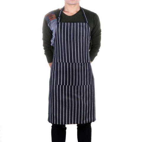 Strip Anti Oil Cotton Bust Apron Chef Cafe Bar Cooking Baking Bib Aprons Catering Waiters Uniform Kitchen Accessories, 03, www.suppashoppa.co.uk