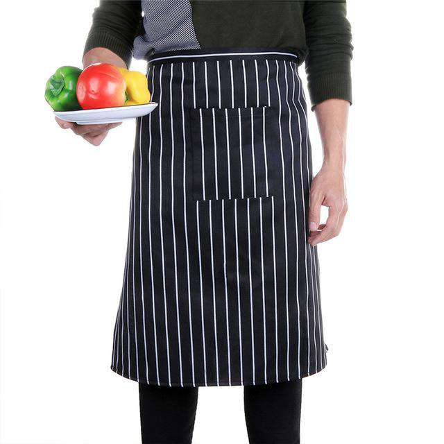 Strip Anti Oil Cotton Bust Apron Chef Cafe Bar Cooking Baking Bib Aprons Catering Waiters Uniform Kitchen Accessories, 02, www.suppashoppa.co.uk