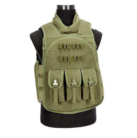 Have Duty Tactical Vest Military Molle Body Armor Combat Plates Vest Multicam Airsoft Tactical Police Uniform, Green / One Size, www.suppashoppa.co.uk