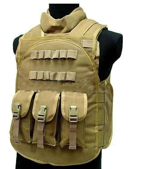 Have Duty Tactical Vest Military Molle Body Armor Combat Plates Vest Multicam Airsoft Tactical Police Uniform, Khaki / One Size, www.suppashoppa.co.uk