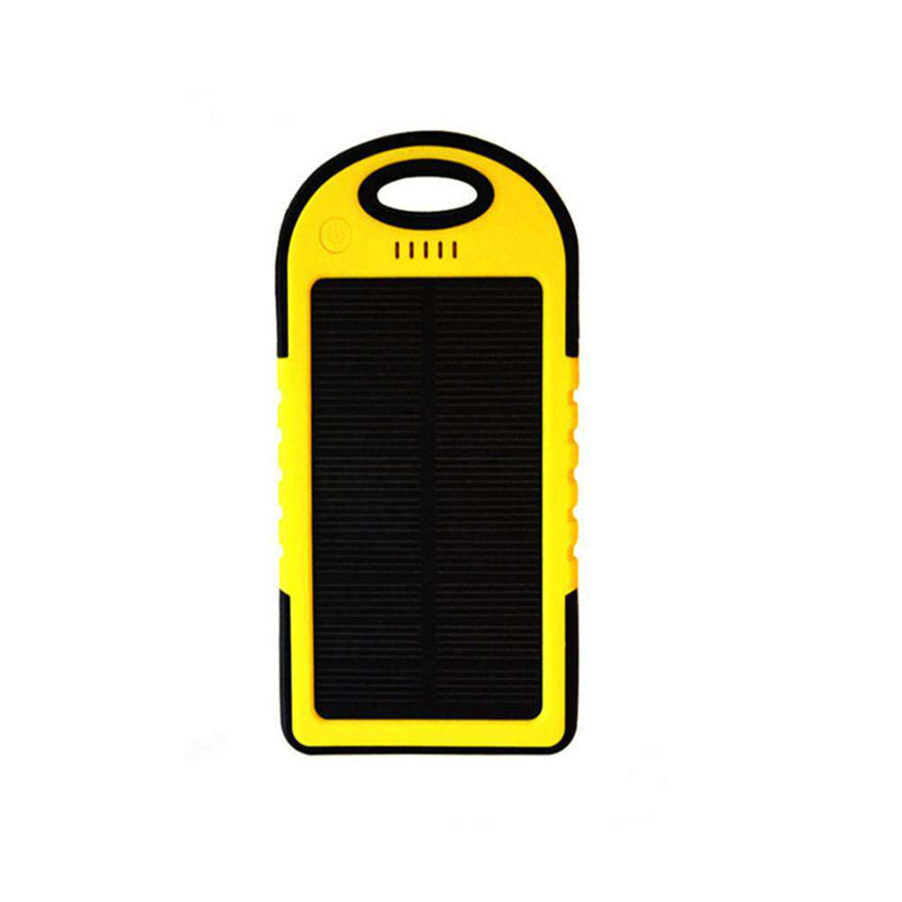 2 In 1 Solar Powered Power Bank Waterproof Dustproof Shockproof Dual USB Output Portable Solar Charger, Default Title, www.suppashoppa.co.uk