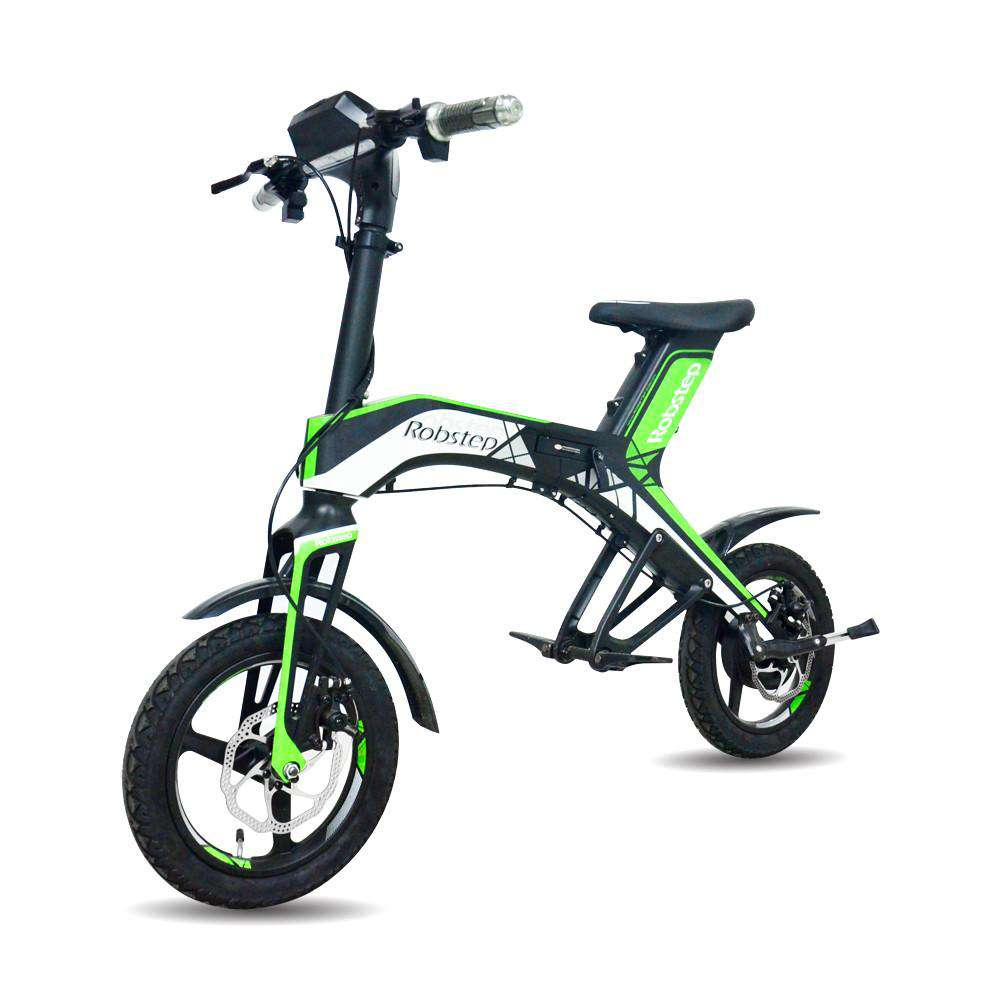 Maxfind 2018 New Fashionable Stylish 48V300W, 4.4Ah Electric Bicycle Green and healthy travel mode Robstep OEM folding, Green, www.suppashoppa.co.uk