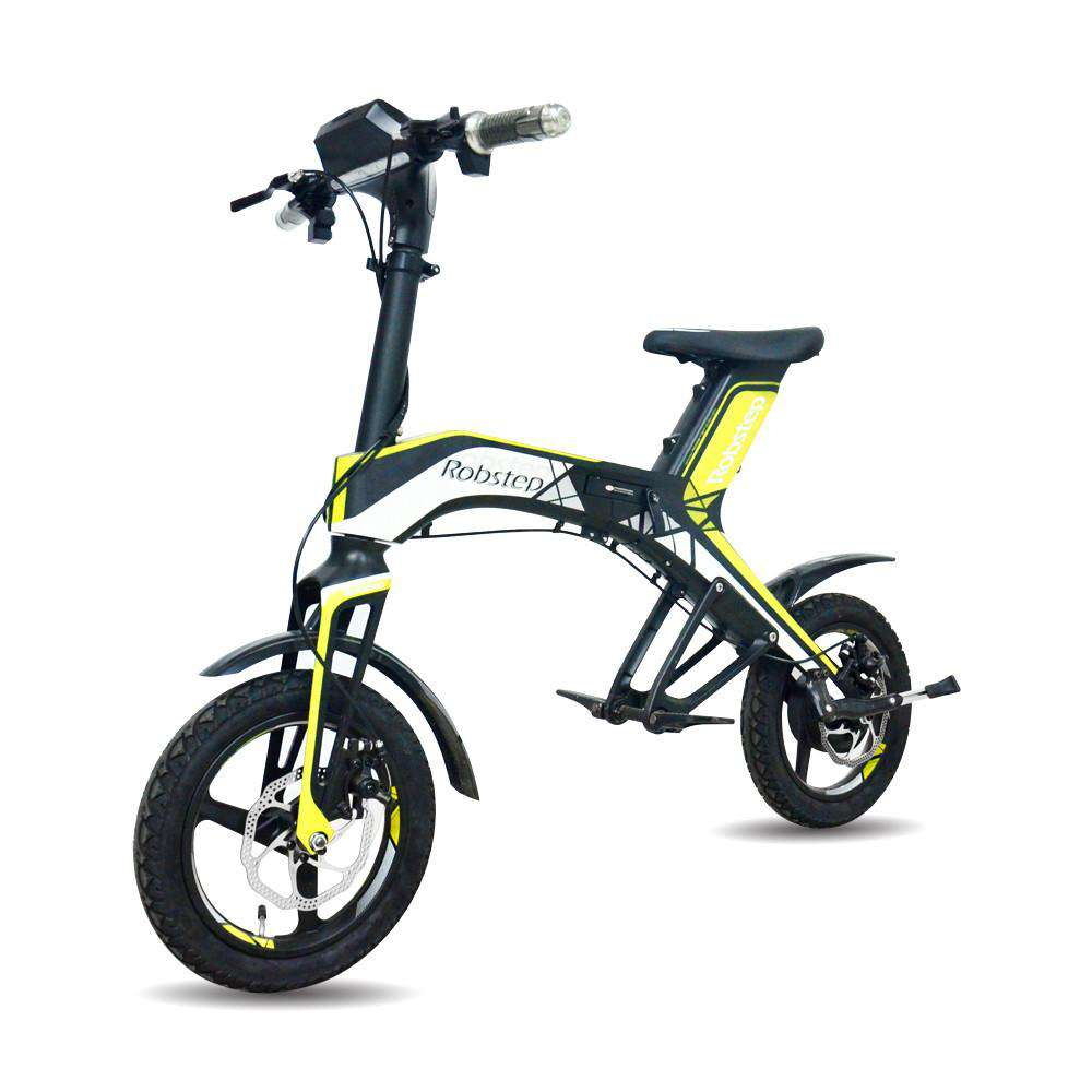 Maxfind 2018 New Fashionable Stylish 48V300W, 4.4Ah Electric Bicycle Green and healthy travel mode Robstep OEM folding, Yellow, www.suppashoppa.co.uk
