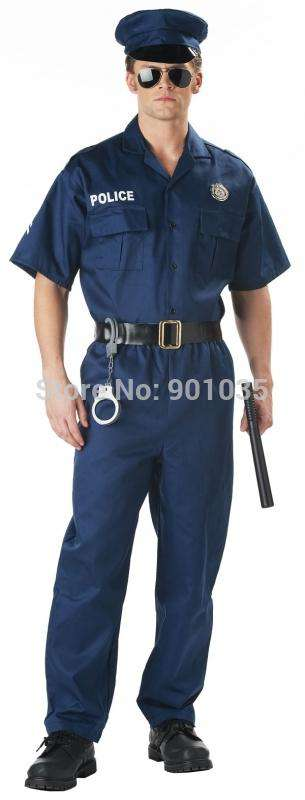FREE SHIPPING Naval Seaman Mens Fancy Dress 1940s Uniform Costume  police Costume 40s Outfit + Hat, , www.suppashoppa.co.uk