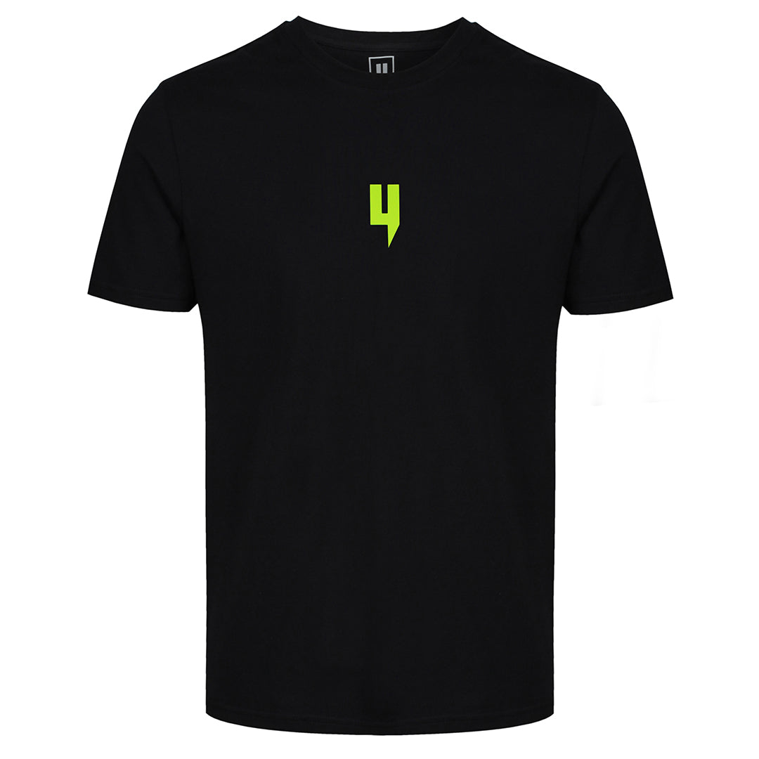 YELIR WORLD Y LOGO TEE BLACK/NEON