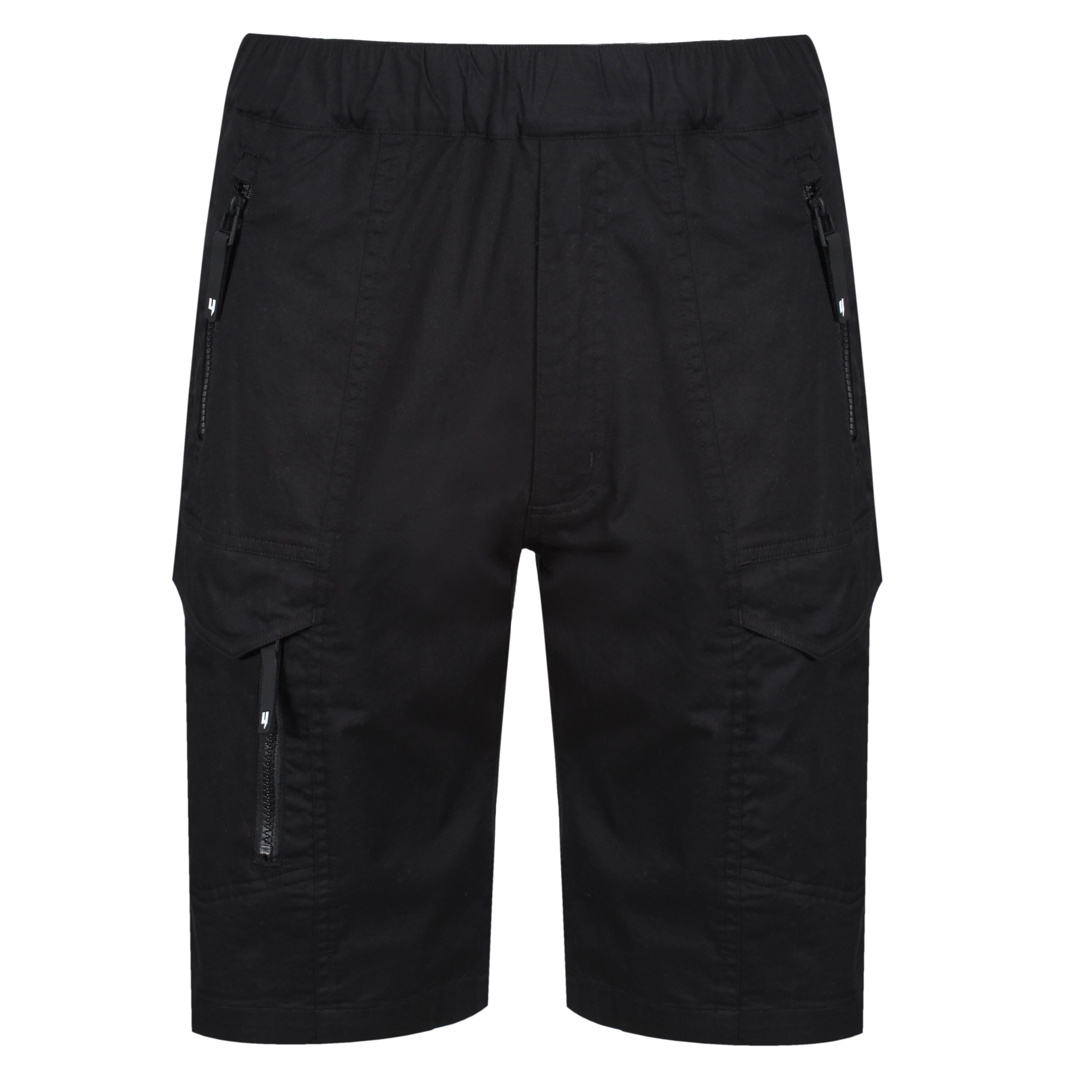 YELIR WORLD COMBAT SHORTS BLACK