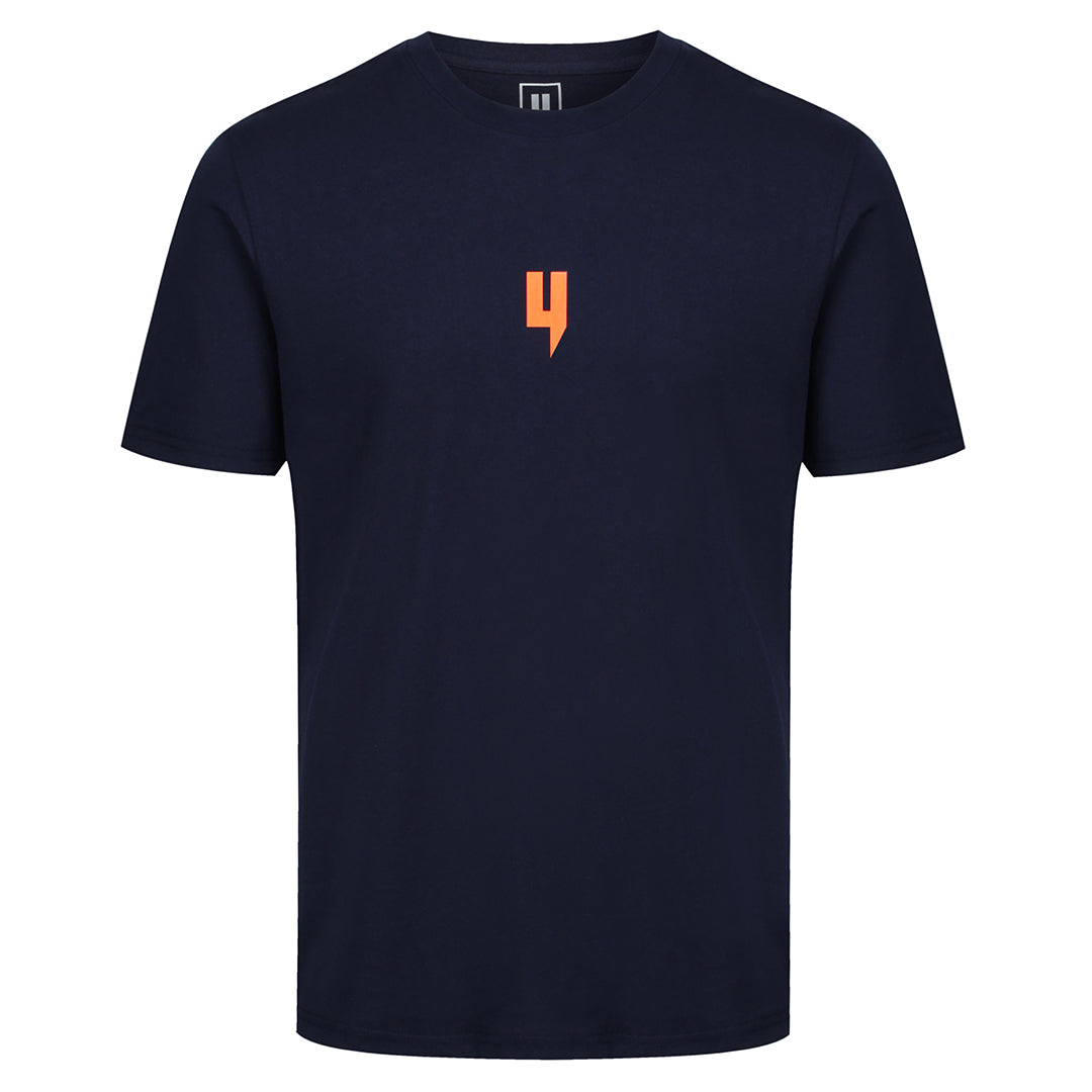 YELIR WORLD Y LOGO TEE NAVY/ORANGE