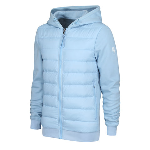 YELIR WORLD QUILTED PANEL JACKET BABY BLUE