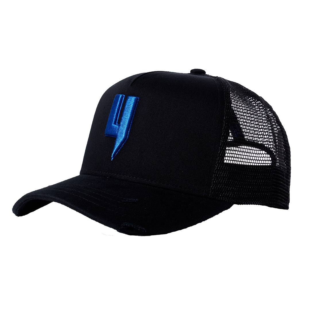YELIR WORLD Y LOGO CAP BLACK COBALT BLUE