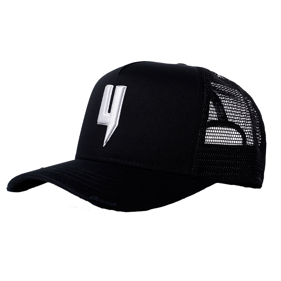 YELIR WORLD Y LOGO CAP BLACK WHITE Y