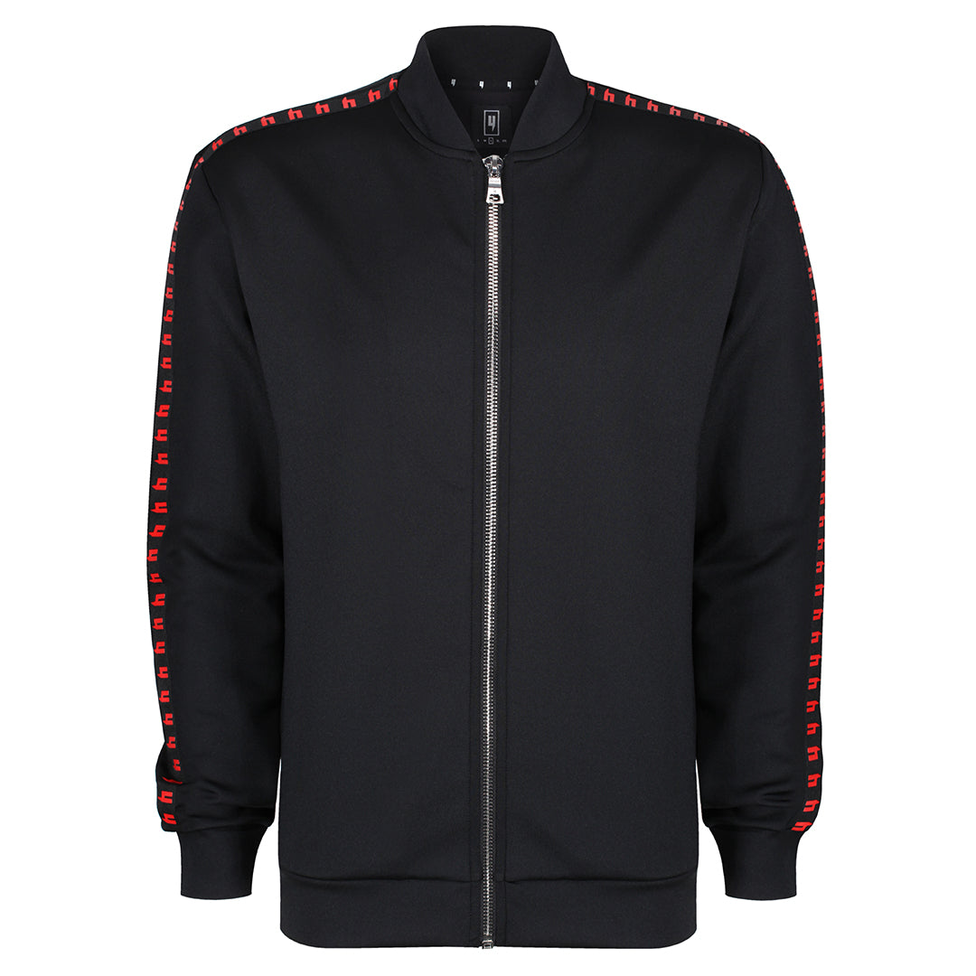 YELIR WORLD SIDE STRIPE BOMBER BLACK/RED