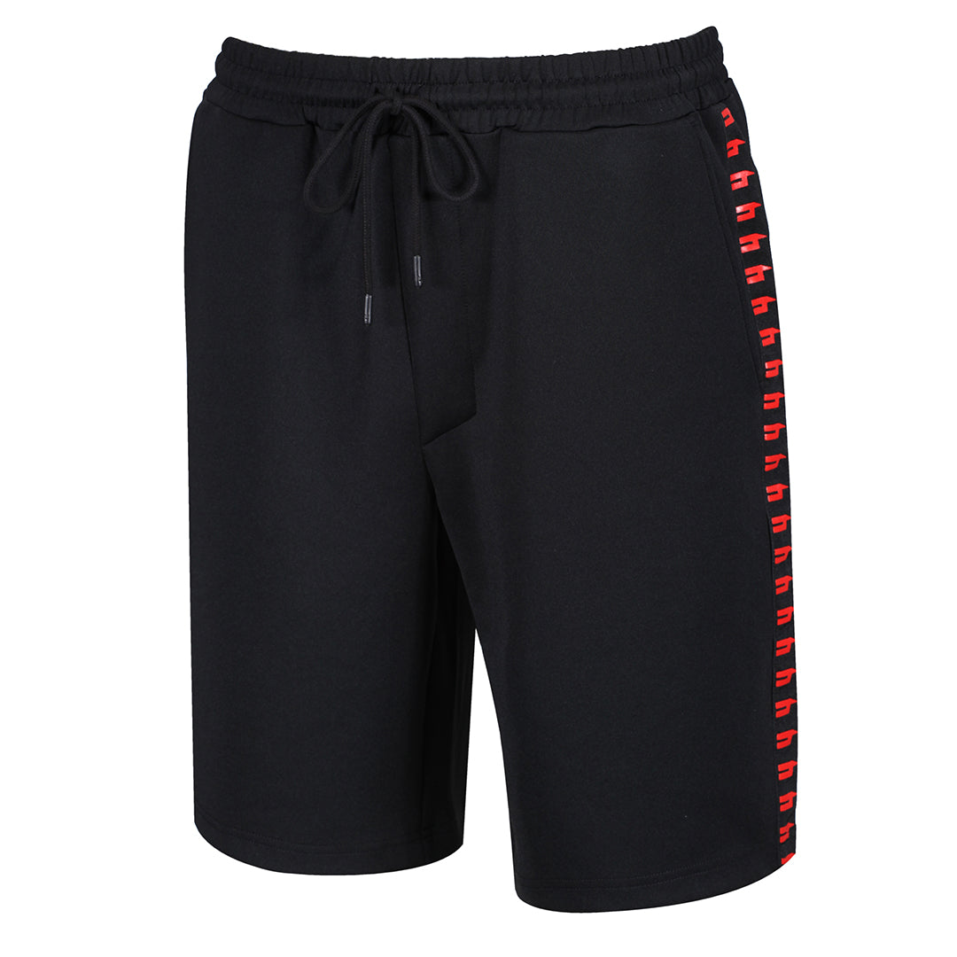 YELIR WORLD SIDE STRIPE SHORTS BLACK/RED