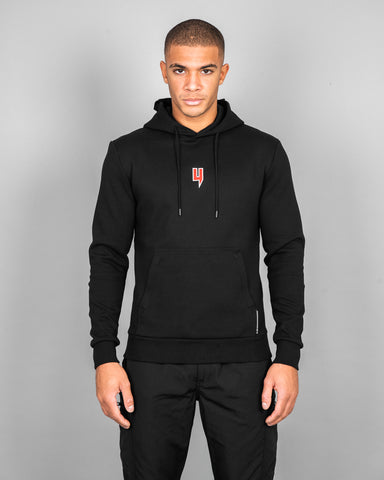 YELIR WORLD BLACK HOODY RED Y