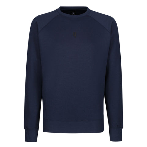 PINTUCK CREW NECK JUMPER NAVY