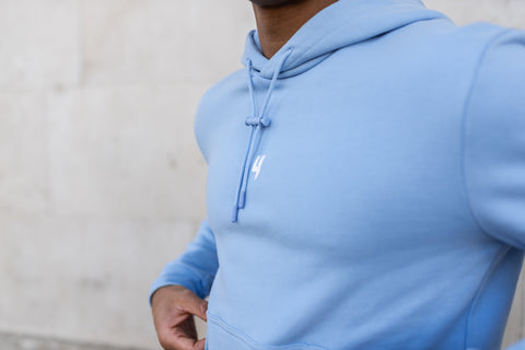 LUX HOODY BABY BLUE WHITE