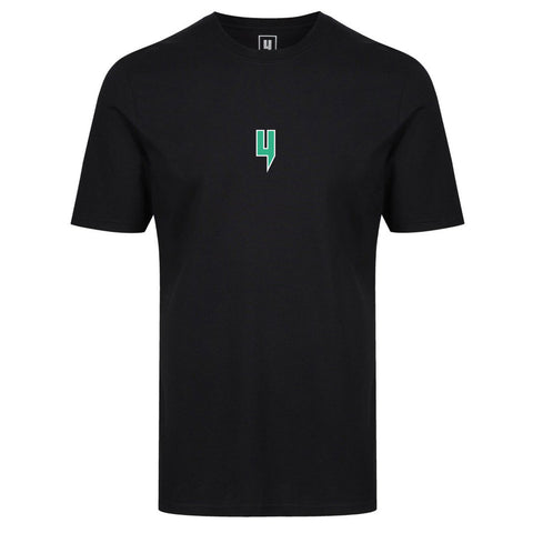 Y LOGO TEE GREEN WHITE OUTLINE