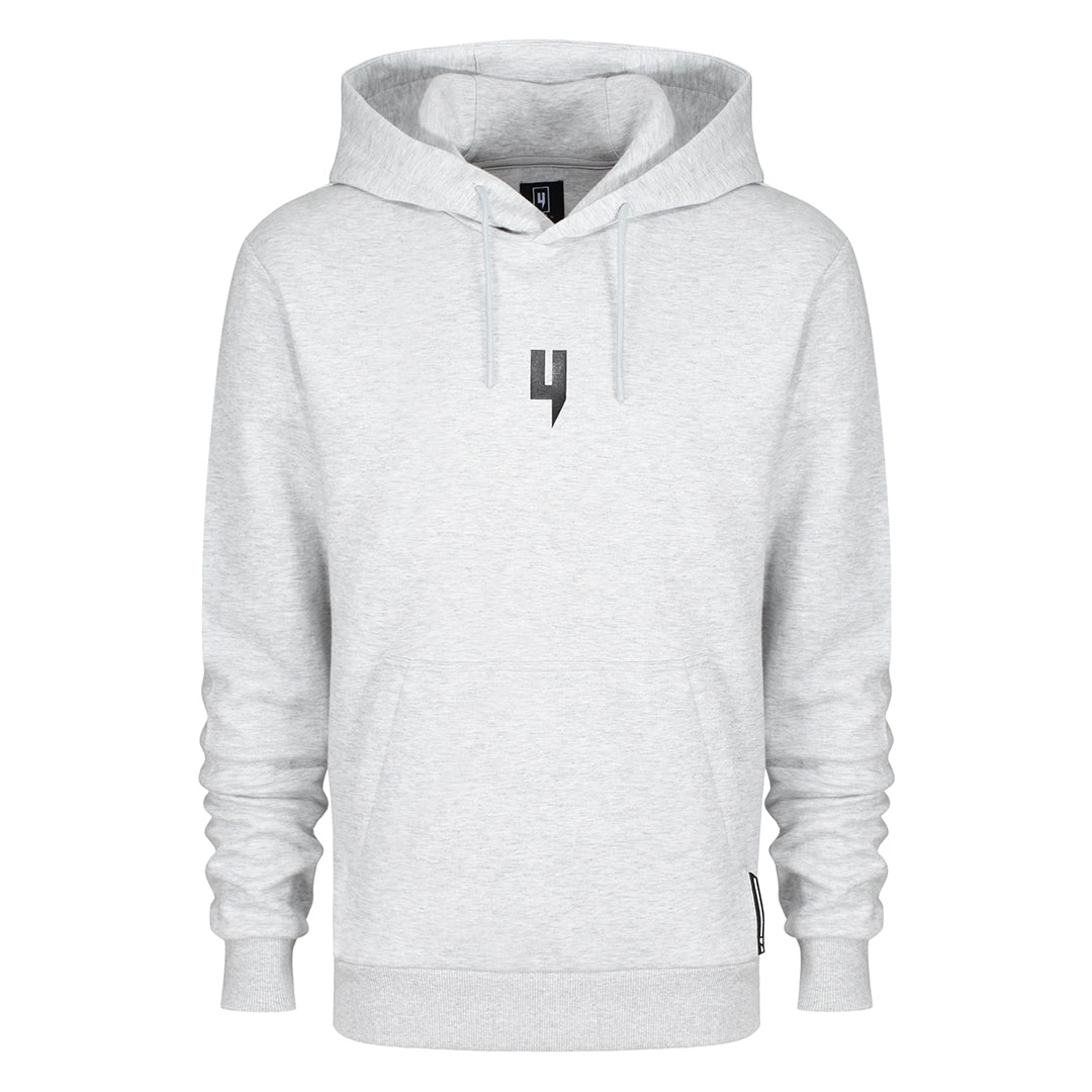 YELIR WORLD GREY MARL HOODY BLACK Y