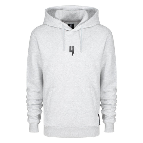 GREY MARL HOODY BLACK Y