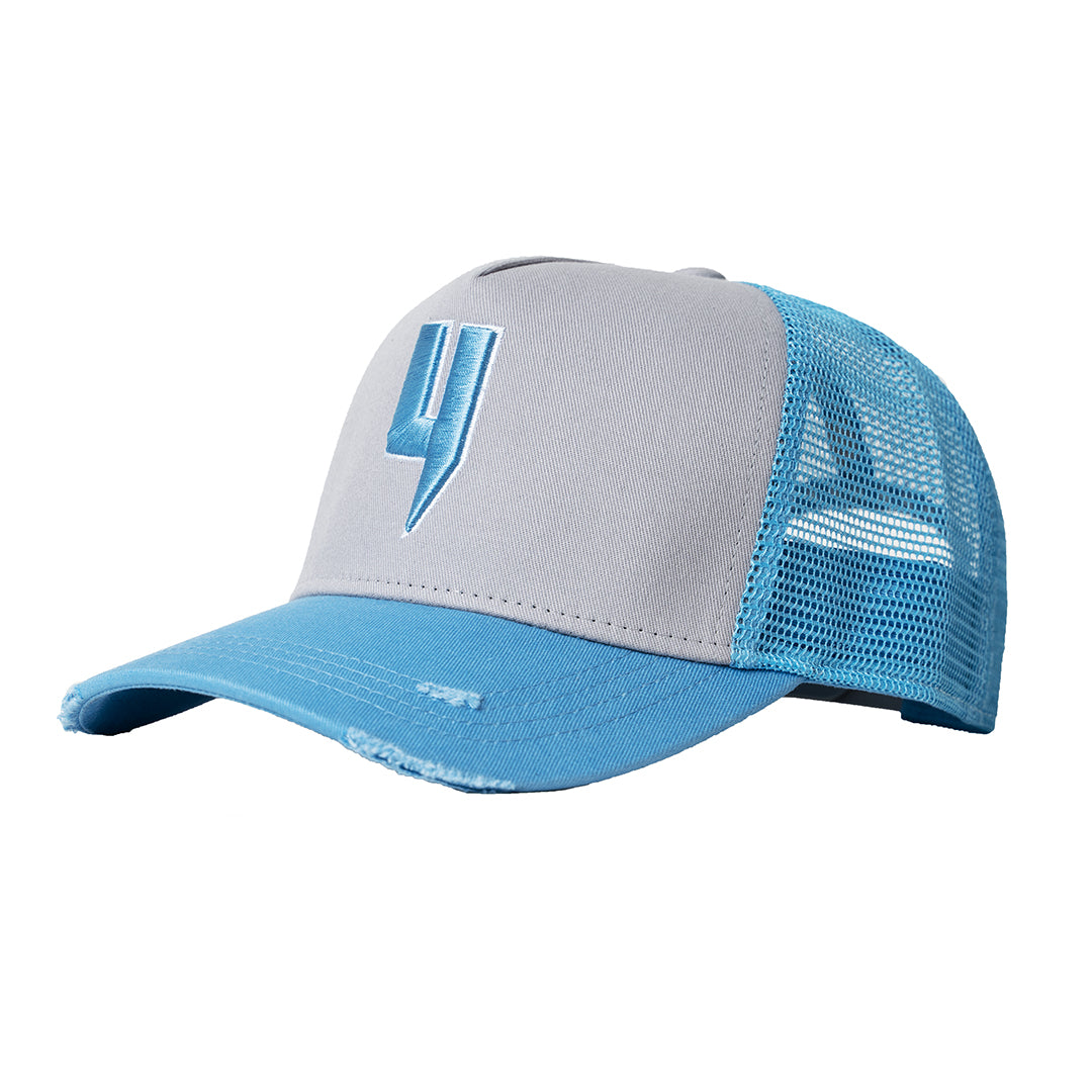 YELIR WORLD Y LOGO CAP GREY/BLUE