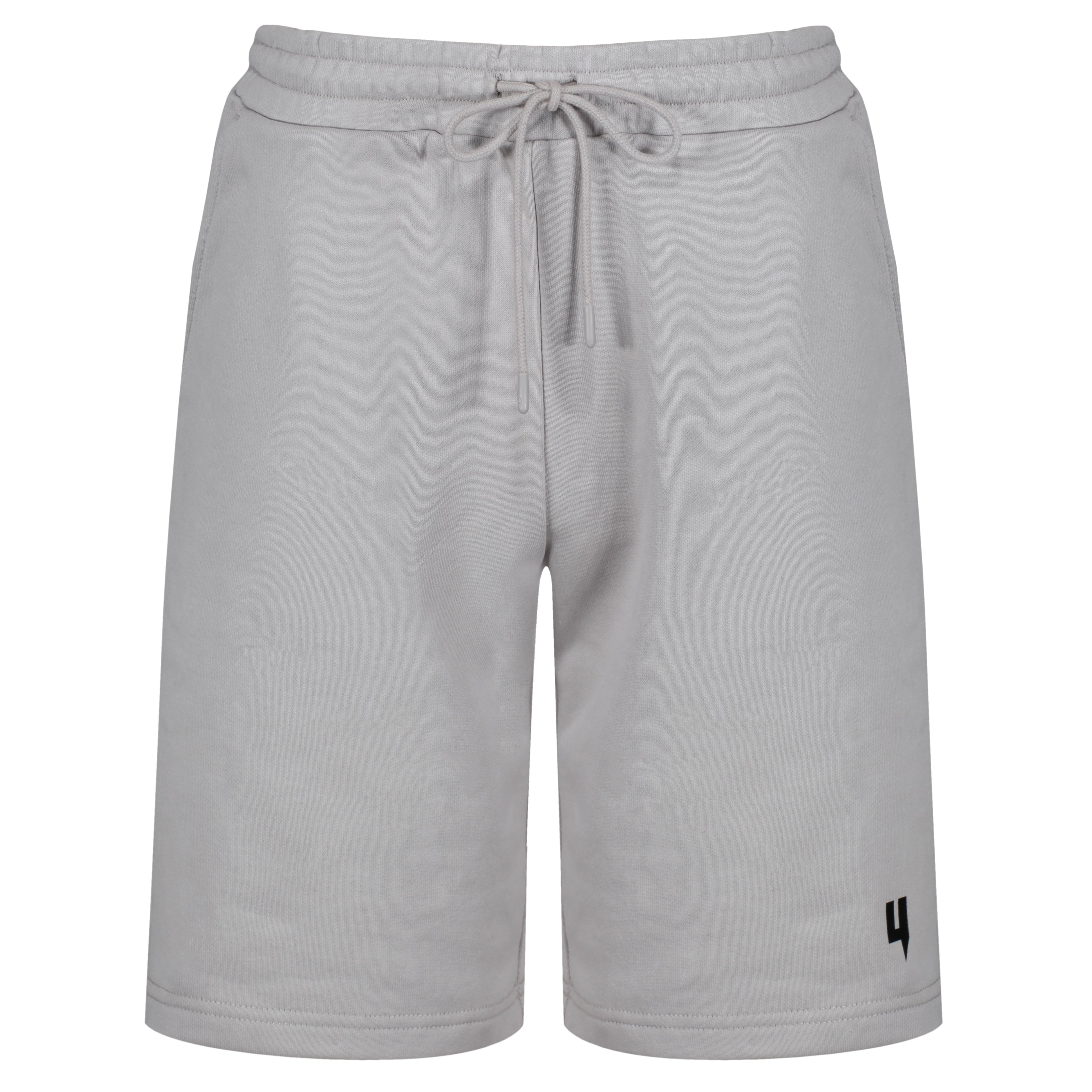 YELIR WORLD Y LOGO SHORTS SOLID GREY