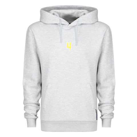 YELIR WORLD GREY MARL HOODY YELLOW Y