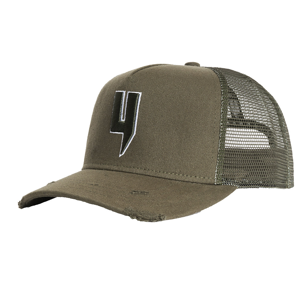 Y LOGO CAP KHAKI WHITE OUTLINE