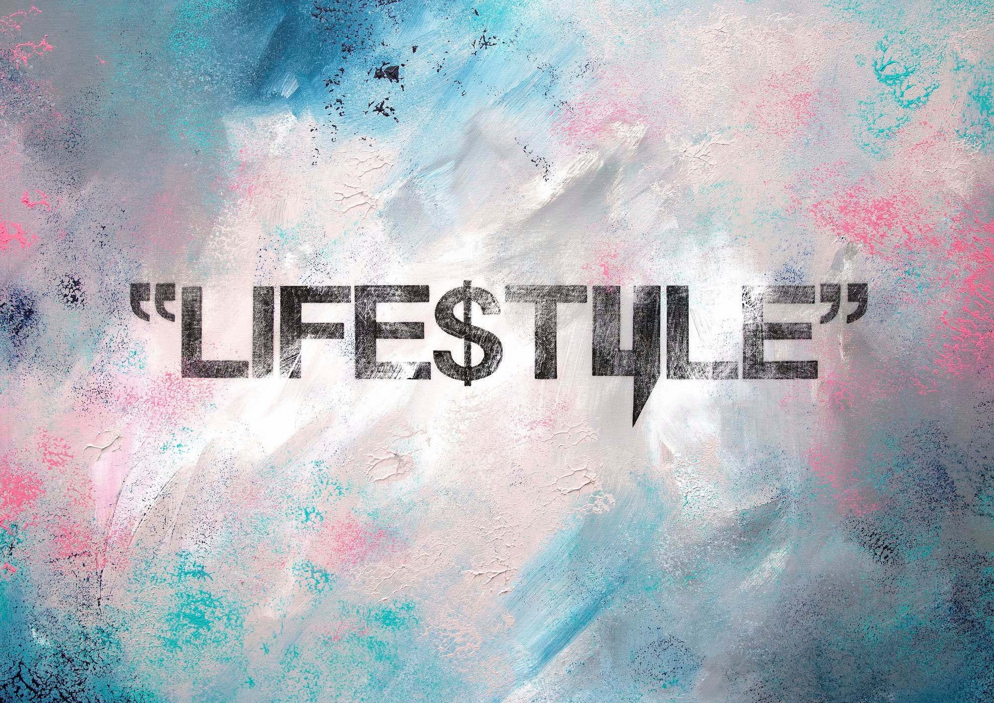 """LIFE$TYLE"" A3 PRINT BY DAVO HOWARTH"