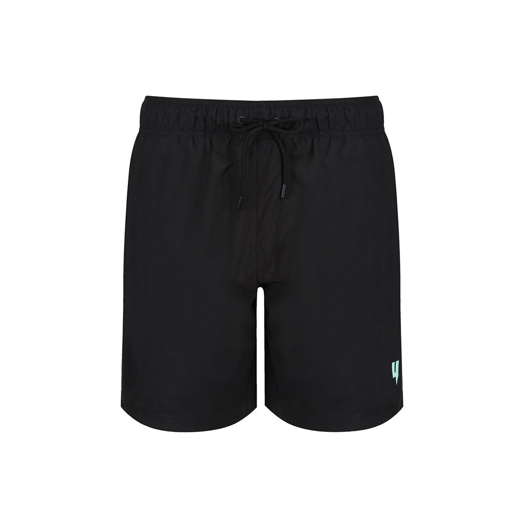 YELIR WORLD Y LOGO SWIM SHORTS BLACK MINT