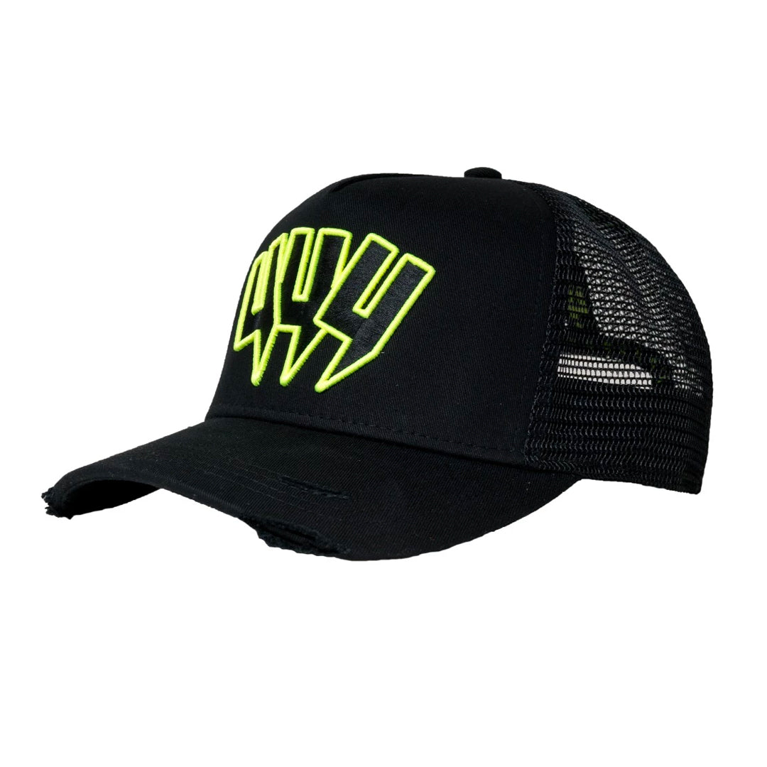 YELIR WORLD YYY CAP BLACK/NEON