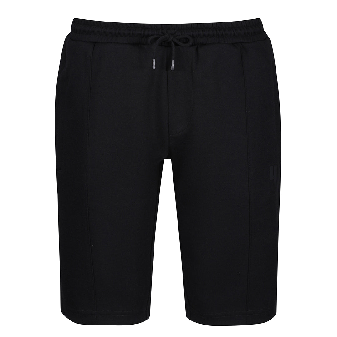 YELIR WORLD PINTUCK SHORTS BLACK
