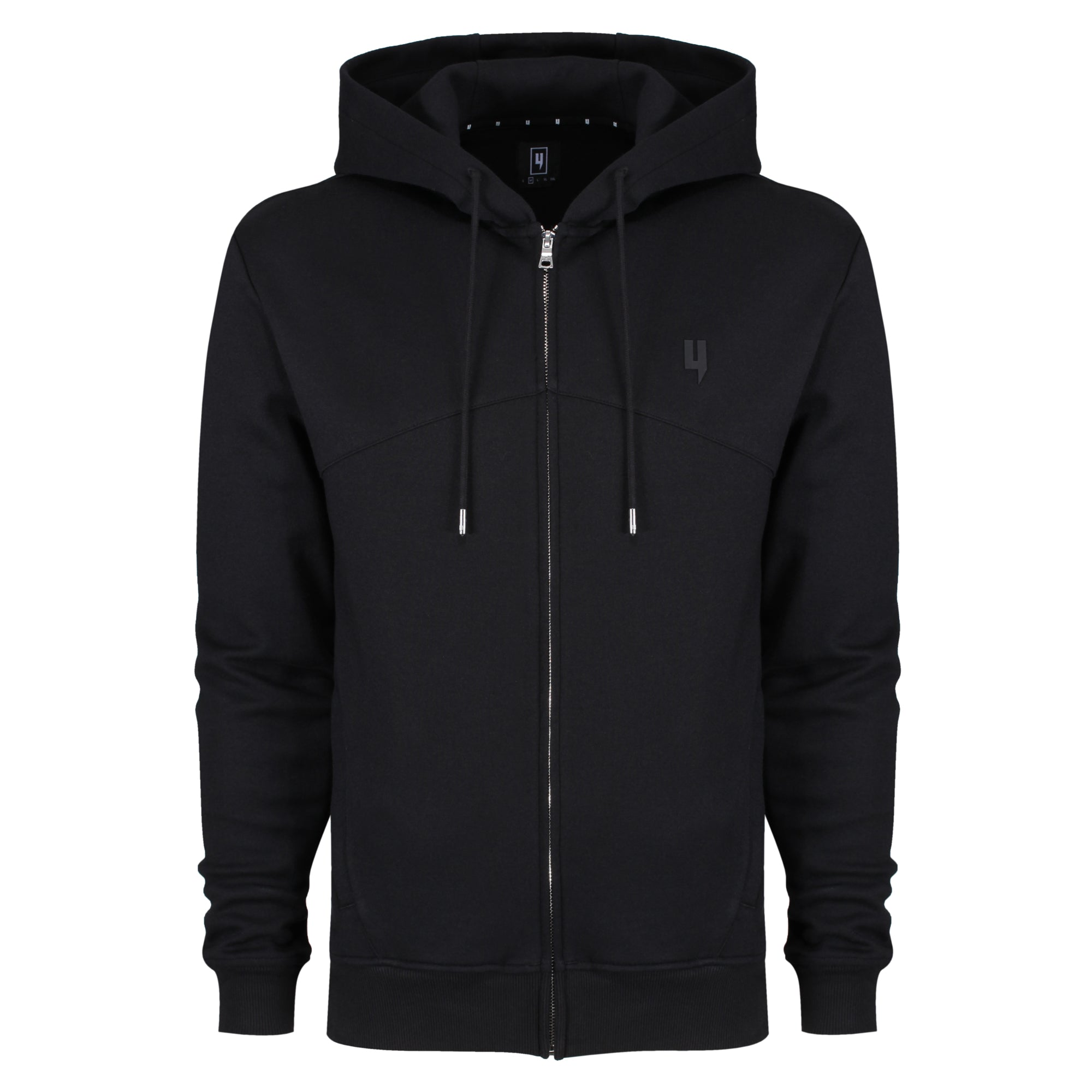 YELIR WORLD PINTUCK HOODY BLACK
