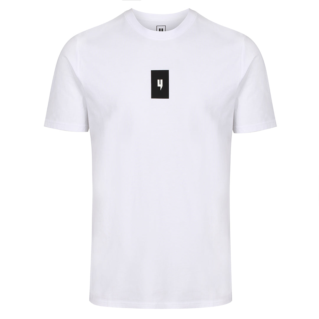 YELIR WORLD LUXE RUBBER LOGO TEE WHITE BLACK