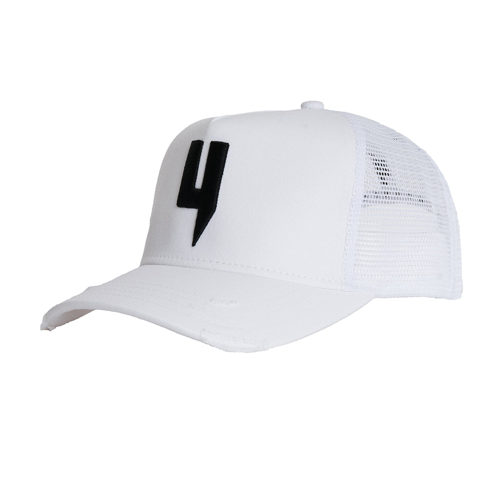 YELIR WORLD Y LOGO CAP WHITE/BLACK Y