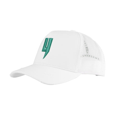 Y LOGO CAP WHITE GREEN