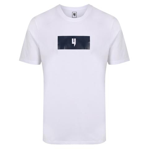 YELIR WORLD BLOCK Y LOGO TEE WHITE/NAVY